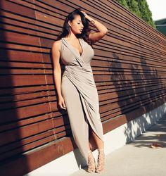 Mercedes M. - The Champagne Dress