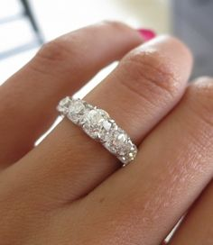 OEC diamond 5 stone ring by David Klass Jewelry.