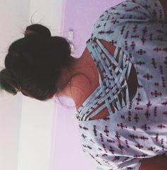 Charlotte Russe dress. Bun head.
