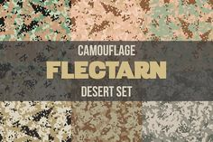Desert Flectarn Camo Set by Vitamin on @creativemarket