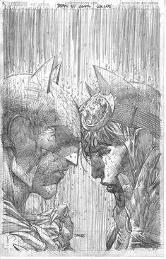 SUPERMAN 50 BATMAN 50 DELL OTTO BULLETPROOF B/&W SKETCH VARIANT CONNECTING SET NM