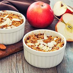 Low Carb Apfel-Mandel-Crumble mit Zimt