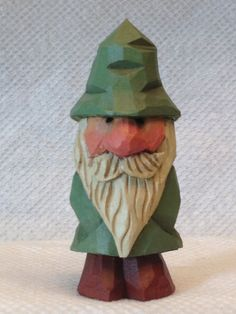Hand Carved Garden Gnome