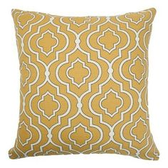 Featuring a feather down filling and striking quatrefoil design, this cotton cushion is the perfect addition to your neutral modern bedroom or country cottag...