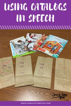 Using Holiday Catalogs In Speech To Target Multiple Speech and Language Goals: Use what you have to have fun and work on a variety of goals!