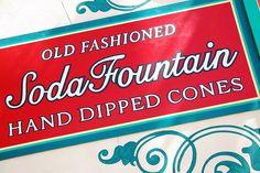 Soda Fountain Sign