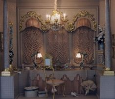 Brooke Tucker Miniatures - the dusty pink dressing room....wow