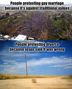 Just a bit tired of the double standard on traditional marriage and family values.