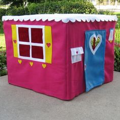 Card Table Playhouse, Basic Bungalow in Raspberry