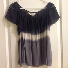 Chiffon blouse Adorable flowy chiffon color block top. Neckline shown. No signs of wear. Studio M Tops Blouses