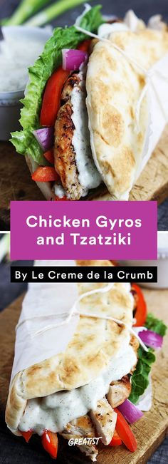 3. Chicken Gyros and Tzatziki #healthy #homemade #streetfood http://greatist.com/eat/street-food-recipes-to-make-at-home