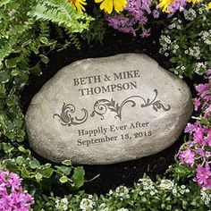 For Us: $26.20  Personalized Decorative Garden Stones - Loving Couple - 10256