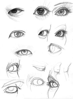 how to draw eyes all angles - Google Search