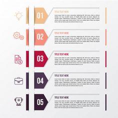 Modern color infographic template Premium Vector Infographic Examples, Infographic Powerpoint, Free Infographic Templates, Graphisches Design, Chart Design, Powerpoint Design Templates, Information Design, Business Plan Template, Le Web