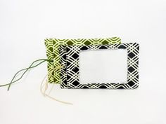 Fabric Luggage Tag Olive and Black by handjstarcreations on Etsy, $14.50