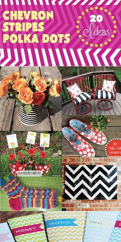 20 wonderful Do It Yourself Projects with Chevron, Stripes, and Polka Dots