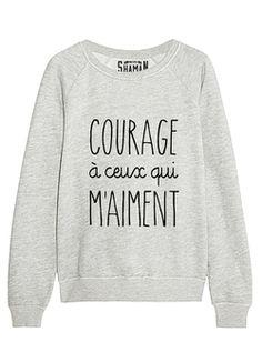 "Sweat ""Je le ferai demain"" Plus ""Ill do it tomorrow"" Sweat Shirt, Tee Shirt, Sweat Original, Sweat Quotes, Message T Shirts, T Shorts, Look Girl, Cute Sweaters, Mode Style"