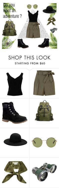 """""""Do you want an adventure"""" by l-kli ❤ liked on Polyvore featuring ADAM, Miss Selfridge, Timberland, Burberry, Betmar, Yves Saint Laurent, donni charm and L.L.Bean"""