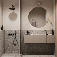 Compact Shower Room, White Tile Backsplash, Minimalist Dining Room, Concrete Bathroom, Luxury Home Furniture, Furniture Design, River Park, Wood Interiors, Modern Interiors