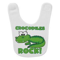 Crocodiles Rock Bib