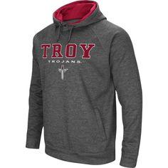Colosseum Men's Troy Trojans Grey Fleece Hoodie, Size: Medium, Multi