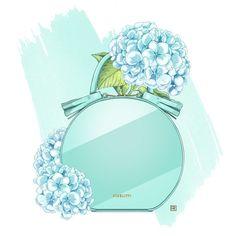 by Rina Rusyaeva Duomo Milan, Fashion Prints, Fashion Art, Perfume Logo, Coco Chanel Mademoiselle, Makeup Illustration, Chanel Art, Pop Art Wallpaper, Tiffany Blue