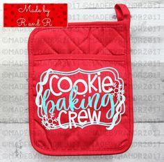 Cookie Baking Crew Pot Holder  Teacher Gift  Christmas Gift