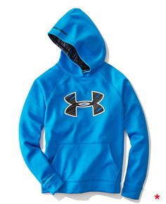 Add this to your list, stat: an Under Armour Hoodie that will keep him warm at recess…