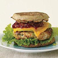 Apple-Cheddar Turkey Burgers