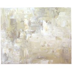 Cream Tan White Abstract Painting Large Acrylic Wall Art 24x30 by... ($200) ❤ liked on Polyvore