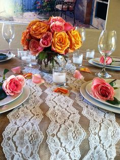 8ft Lace Table Runner Ivory Lace 11in x by LovelyLaceDesigns, $13.50