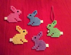 Conejitos de colores en hamma beads