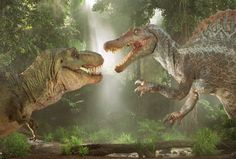 T-Rex and Spinosaurus