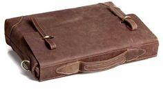 """Leather bag, Canvas bag, Laptop Bag, Luggage Bag, Tote, Shoulder Bag, Leisure Bag  Image of Vintage Handmade Genuine Crazy Horse Leather Briefcase Messenger 14"""" Laptop / 15"""" MacBook Bag"""