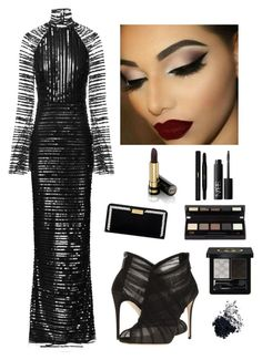 """""""Evening Makeup Look"""" by kotnourka ❤ liked on Polyvore featuring Rachel Gilbert, Dolce&Gabbana, Henri Bendel, Gucci, Tom Ford, NARS Cosmetics and Yves Saint Laurent"""