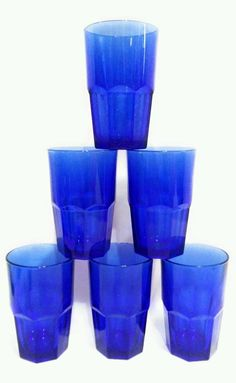 Cristar Blue Wine Glasses