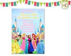 Invitación princesa Disney con Elsa Castillo por HDInvitations