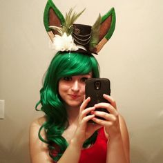 Cassie Fray- Leafeon Top Hat #cosplay #cosplayer #pokemon #Leafeon