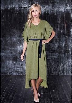 Трикотажное платье с поясом от Cher Nika