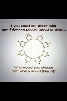 Who would you choose? I... Omg, only seven?! It's too small. I chose 7 only from one book and it was really hard. I need something like... Few tables or one, but much much bigger