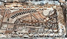 The Fifth Century Kelenderis Mosaic Showing for the first  time a Lateen or Settee Sail.