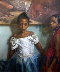 """Some Day My Prince Will Come"" - Margaret Bowland, oil on linen, 2010 {contemporary figurative artist african-american black female children girls painting} Black Girl Art, Black Women Art, Street Art, Black Artwork, African American Art, American Children, Afro Art, Black Artists, Black Is Beautiful"