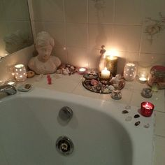 Bathroom altar--every home I've ever had has bathroom kitchen main room and bedroom altars or shrines--my space is sacred space Feng Shui, Wiccan, Witchcraft, Magick, Deco Zen, Meditation Space, Kitchen Witch, Decoration Design, Book Of Shadows