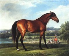 """Hollyhock"" by George Stubbs with landscape by Boucher and Vernet"