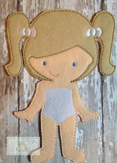 Felt Un Paper Melissa Doll by NettiesNeedlesToo on Etsy, $6.00