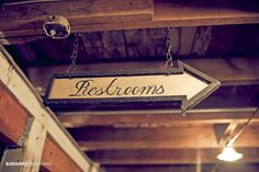 Vintage hand painted restroom sign @Farshad Inanlou AIR FARM