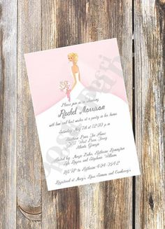 Beautiful Whimsical Bridal Shower Invitation / by RoostPaperie, $13.00