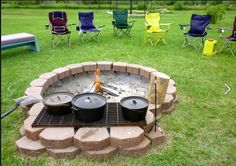 A sweet outdoor open hearth cooking setup.
