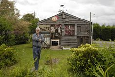 Jon Earl, of Clevedon, North Somerset, outside his music studio shed Garden Huts, Cool Sheds, Shed Of The Year, Studio Shed, North Somerset, Local Legends, Garden Office, Recording Studio, Britain