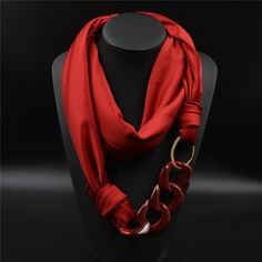 Luxurious Silk Scarf for women. This handmade Scarf Necklace is made Scarf Necklace, Fabric Necklace, Scarf Jewelry, Fabric Jewelry, Beaded Jewelry, Scarf Knots, Scarf Shirt, Handmade Scarves, How To Wear Scarves